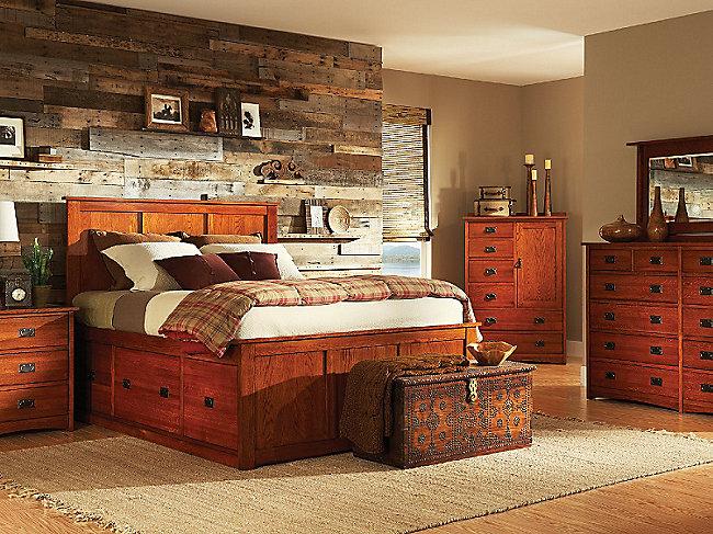 American Mission II King Pedestal Bed Bedroom Suite