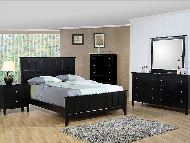 Studio Black Queen Bedroom Suite