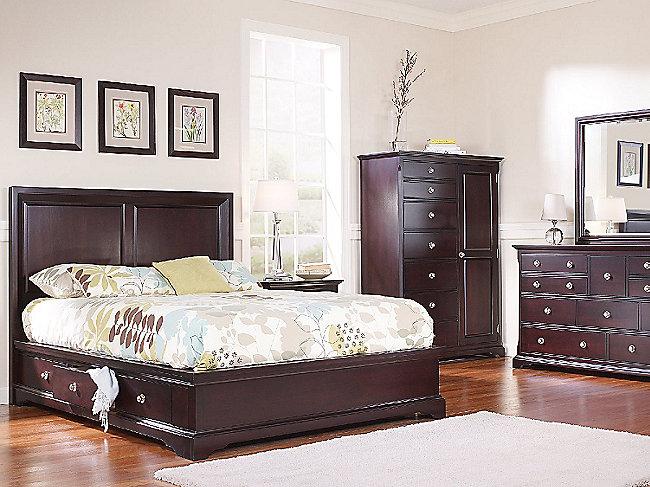 French quarters ii queen bedroom suite with one underbed storage unit hom furniture Queen bedroom sets with underbed storage