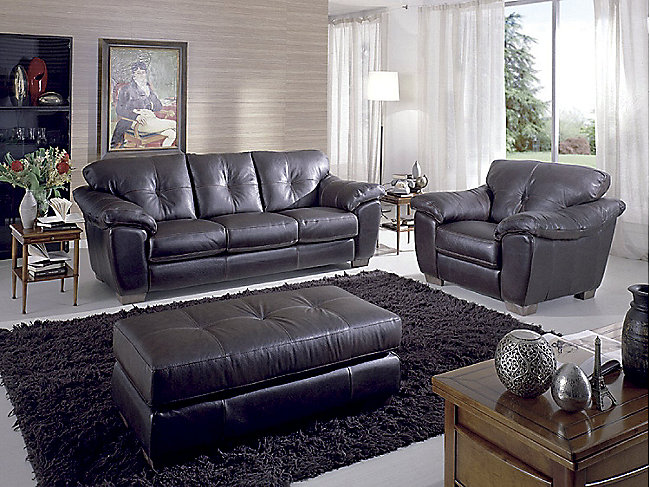 Phoenix 3 piece leather room package hom furniture for Furniture 3 room package