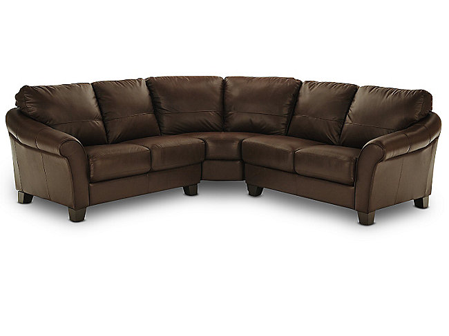 Wagner 3 Piece Leather Sectional Hom Furniture