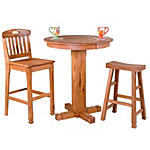 Sedona pub table with 2 handleback barstools