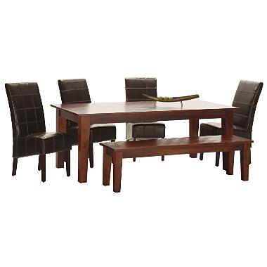 table 4 side chairs 1 bench tribeca dining room dining table chairs