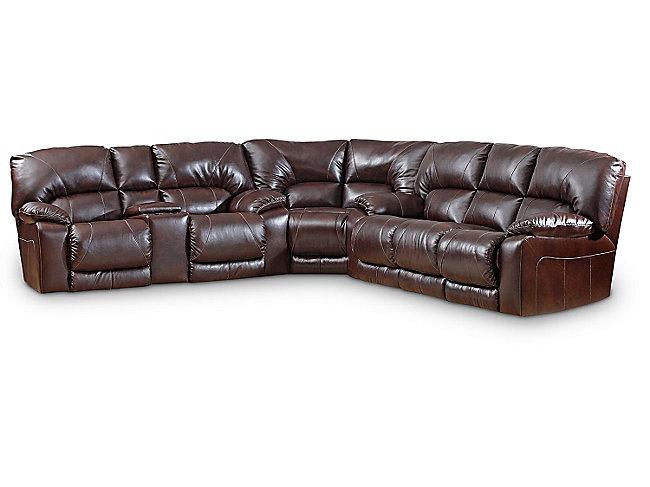 Maverick 3 Piece Reclining Sectional Hom Furniture