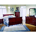 Louis Philippe 5 Piece Queen Bedroom Suite