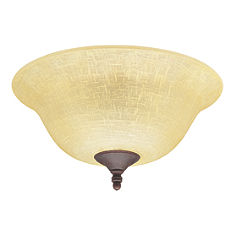 Amber Linen Bowl Light Kit-28641