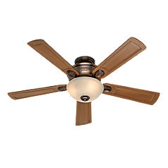 Bronze Patina Ceiling Fan with Light Kit-28783