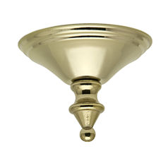 Hunter Bright Brass Finish® Cap and Finial-28915
