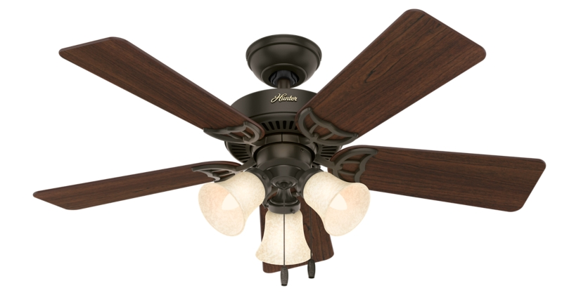 44 Bronze Brown Ceiling Fan Quiet Breeze 51007 Hunter Fan
