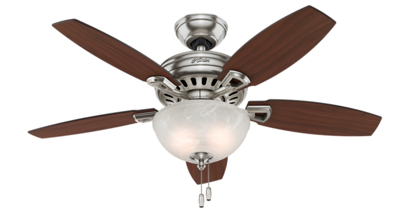 44 Quot Brushed Nickel Chrome Ceiling Fan Holden 51065