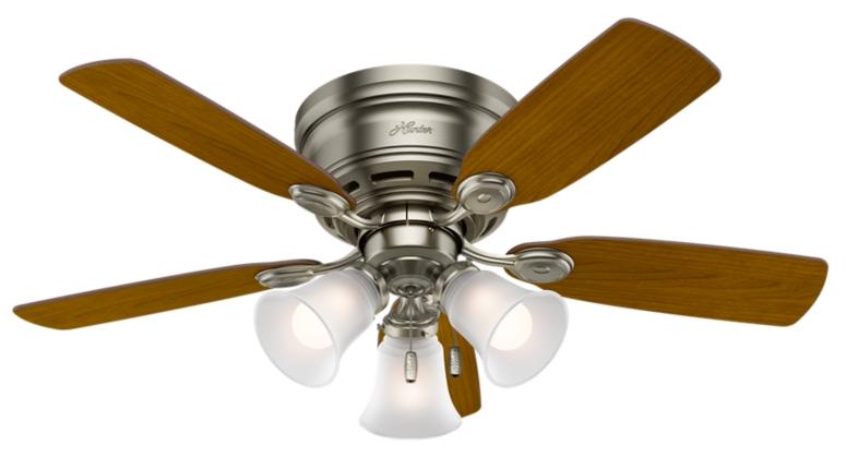 42 Quot Iron Pewter Ceiling Fan Low Profile 51074 Hunter Fan