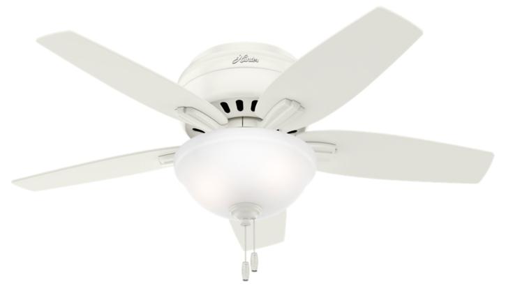42 Quot White Ceiling Fan Newsome Low Profile 51080 Hunter Fan