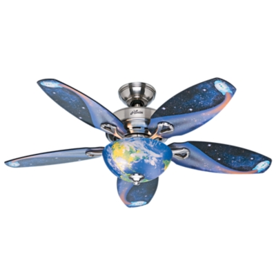48 Quot Brushed Nickel Chrome Ceiling Fan Discovery 52019