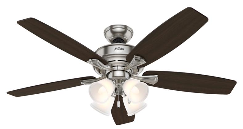 52 Quot Brushed Nickel Chrome Ceiling Fan Belmor 52058