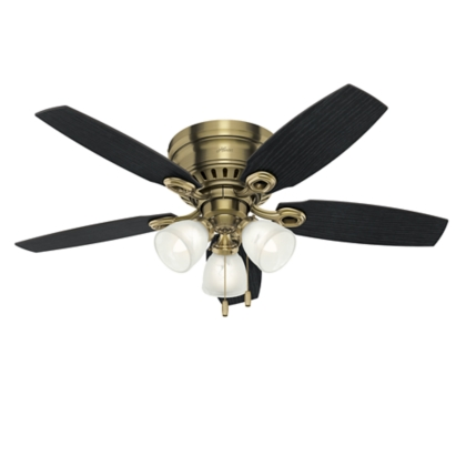46 Brass Ceiling Fan Hatherton 52085 Hunter Fan
