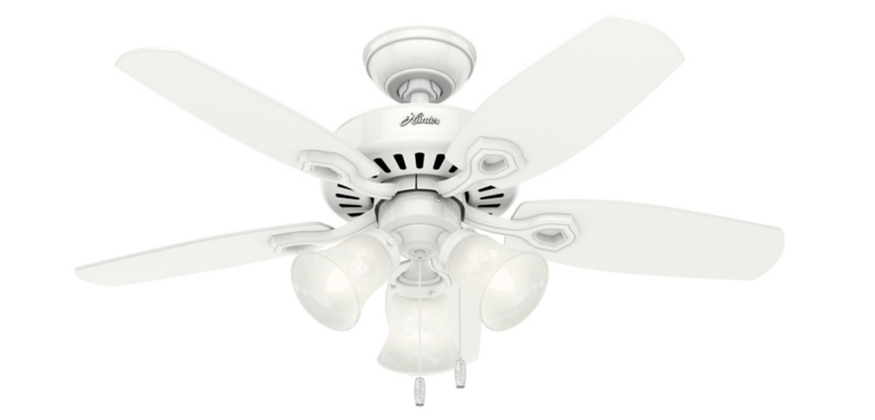 42 White Ceiling Fan Builder Small Room 52105 Hunter Fan