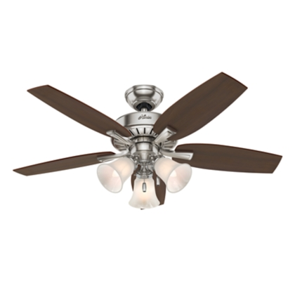 46 Quot Brushed Nickel Chrome Ceiling Fan Atkinson 52115 Hunter Fan