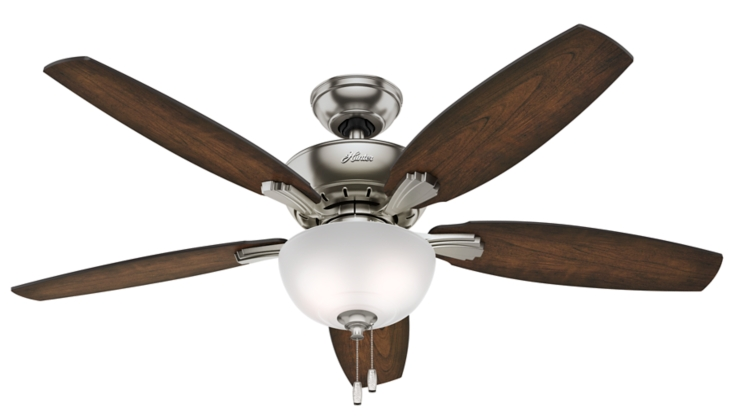 52 Quot Brushed Nickel Chrome Ceiling Fan Bowmore 52222