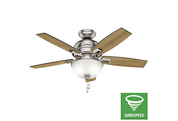52 Quot Bronze Brown Ceiling Fan Donegan Bowl Light 53333