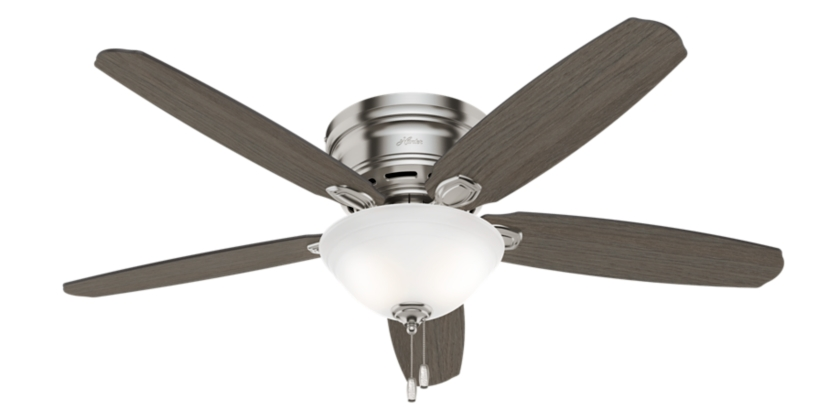 52 Quot Brushed Nickel Chrome Ceiling Fan Barden 52257