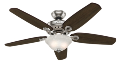 52 Quot Brushed Nickel Chrome Ceiling Fan Fairhaven 53033