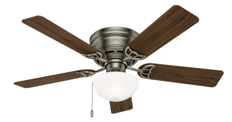 52 Quot Iron Pewter Ceiling Fan Low Profile Iii Plus 53074
