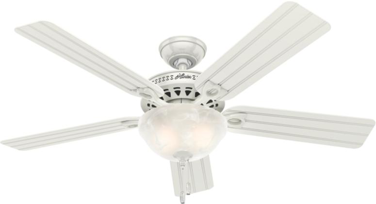 52 Quot White Ceiling Fan Beachcomber 53122 Hunter Fan