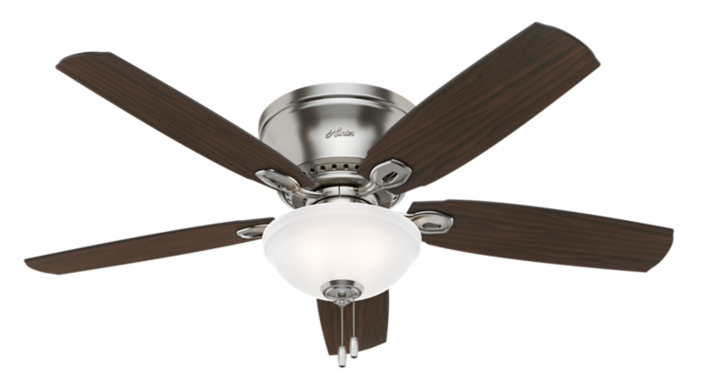 52 Quot Brushed Nickel Chrome Ceiling Fan Eastpoint 53286