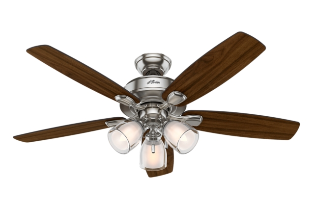 52 Quot Brushed Nickel Chrome Ceiling Fan Meridale 53306