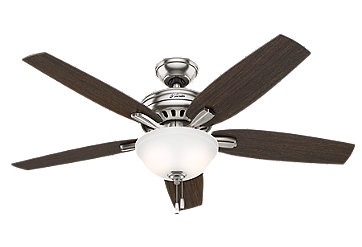 56 Quot Brushed Nickel Chrome Ceiling Fan Newsome 54162