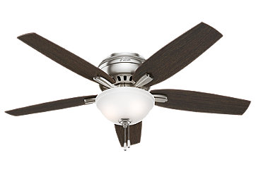 42 Quot Brushed Nickel Chrome Ceiling Fan Newsome 51088