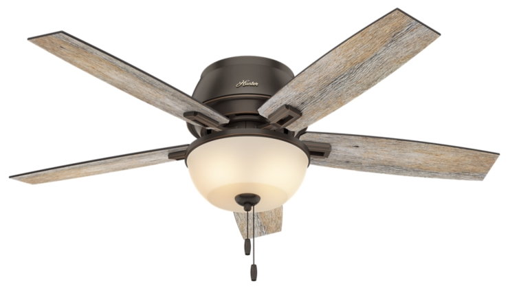 52 Quot Bronze Brown Ceiling Fan Donegan Low Profile 53342