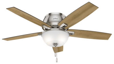 52 Quot Brushed Nickel Chrome Ceiling Fan Donegan Low