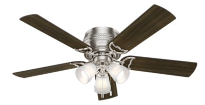 Prim low profile with 3 led lights 52 inch ceiling fan hunter fan mozeypictures Gallery