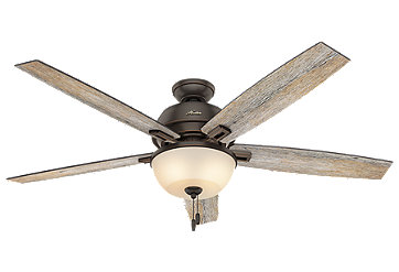 52 Quot Brushed Nickel Chrome Ceiling Fan Donegan Bowl Light