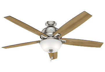 44 Quot White Ceiling Fan Donegan Three Light 52229 Hunter Fan