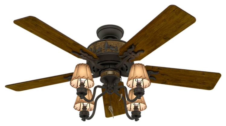 52 Quot Bronze Brown Ceiling Fan Adirondack 59006 Hunter Fan