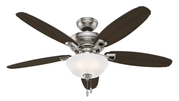52 Quot Brushed Nickel Chrome Ceiling Fan Rayburn 59032