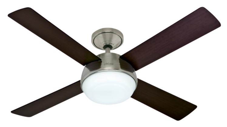 52 Quot Brushed Nickel Chrome Ceiling Fan Arvada 59035