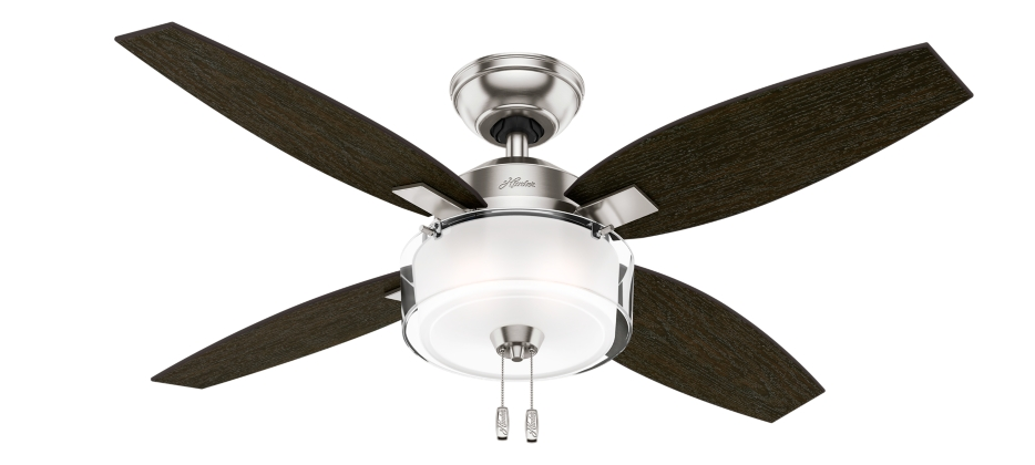 46 Quot Brushed Nickel Chrome Ceiling Fan Acadia 59171