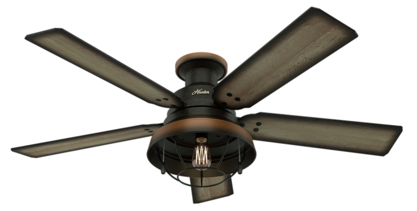 52 bronze brown ceiling fan landsdowne 59172 hunter fan. Black Bedroom Furniture Sets. Home Design Ideas