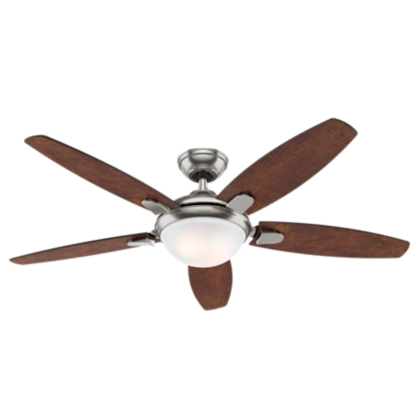 54 Quot Brushed Nickel Chrome Ceiling Fan Contempo 59176