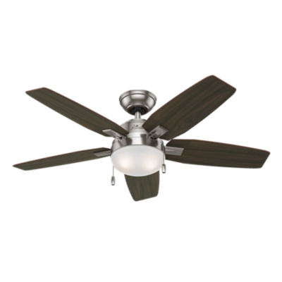 46 Quot Brushed Nickel Chrome Ceiling Fan Antero 59177