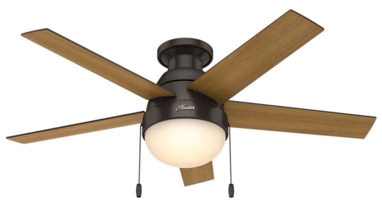 46 Quot Bronze Brown Ceiling Fan Anslee Low Profile 59268 Hunter Fan