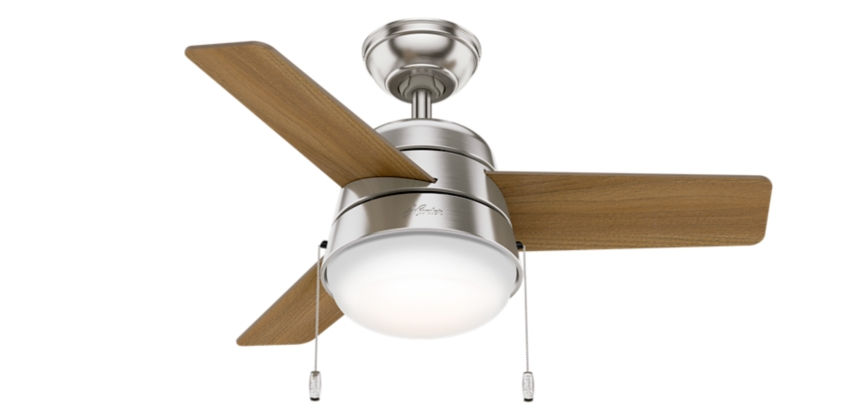 36 Quot Brushed Nickel Chrome Ceiling Fan Aker 59303 Hunter Fan