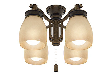 Outdoor Four-Light Aged Bronze Fixture - 99087