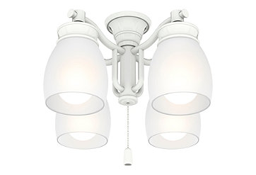Outdoor Four-Light Snow White Fixture - 99088