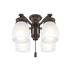 Outdoor Four-Light Brushed Cocoa Fixture-99090