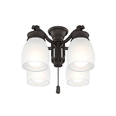 Outdoor Four-Light Maiden Bronze Fixture-99091