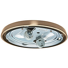CFL Low Profile Fitter, Antique Brass-99252